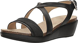 Geox Womens W Abbie 5 Wedge Sandal, Black, 36 EU/6 M US
