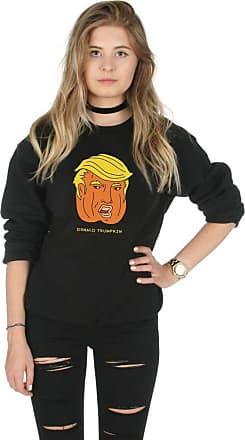 Sanfran Clothing Sanfran - Donald Trumpkin Halloween Top Funny Trump Pumpkin USA Jumper Sweater - Small/Black