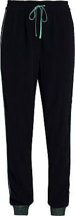 Zoe Karssen Zoe Karssen Woman Satin-trimmed Crepe Track Pants Black Size S
