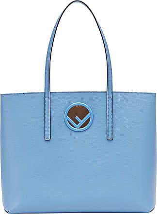 Fendi Bolsa tote de couro - Azul