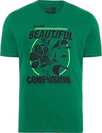 Ellus T-SHIRT MASCULINA BASIC BEAUTIFUL CONFUSION - VERDE