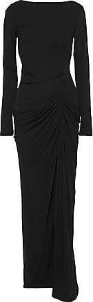Badgley Mischka Badgley Mischka Woman Draped Stretch-crepe Gown Black Size 0