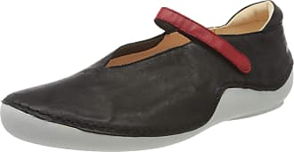 Think Womens 686065_KAPSL Ankle Strap Ballet Flats, Black Sz Kombi 09, 3.5/4 UK