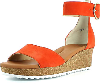 Paul Green Women Sandals 7386, Ladies Wedge Sandals, Wedge Sandals,Summer Shoes,Comfortable,Flat,Orange,37.5 EU / 4.5 UK
