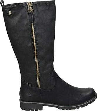 Refresh Womens Flat Boot with Zip Assembly - for: Women Black Size: 3 UK