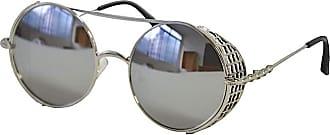 Its! Óculos Aviador Redondo Proteção Metal