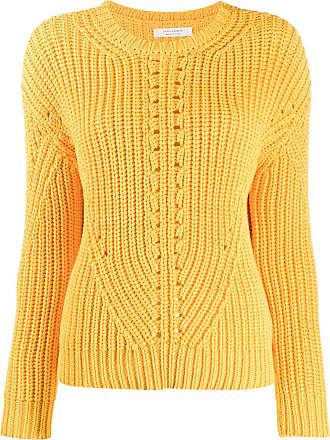 Chinti and Parker Suéter de tricô canelado - Amarelo