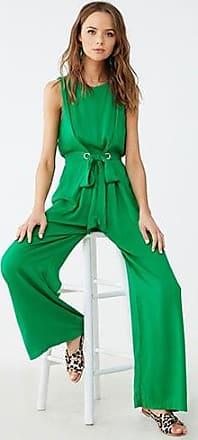 Forever 21 Forever 21 Sleeveless Tie-Front Jumpsuit Green