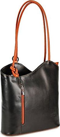 e729f6fe768a0 Belli ital. Leder Handtasche Backpack Damen Rucksack aus feinstem Leder in  schwarz cognac - 28x28x8