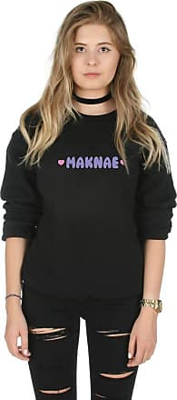 Sanfran Clothing Sanfran - Maknae Kpop Fangirl Jungkook Jungshook Big Bang Kawaii Jumper Sweater - Medium/Black