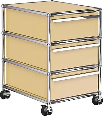 USM Haller Rollcontainer mit 3 Schubladen - USM beige/41.8 x 60.5 x 52.3 cm