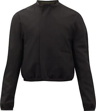 Haider Ackermann Panelled Wool-crepe Short Jacket - Mens - Black