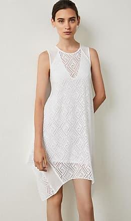 227ffba0fd BCBGeneration Asymmetrical Geometric Lace Dress