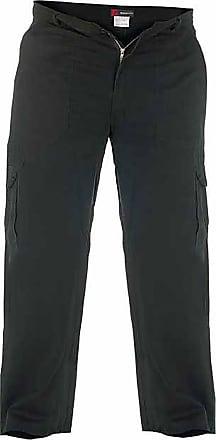 Duke London Black: Tall Mens Cargo Trousers / Combat Pants by duke (36)