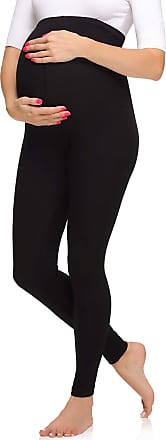 Merry Style Womens Maternity Long Leggings Made from Viscose MS10-297 (Black, 5XL)