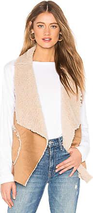 BB Dakota Easily Suede Faux Fur Vest in Tan