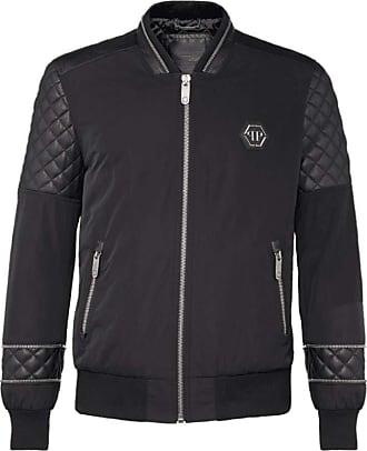 Philipp Plein Elizar Leather Jacket Black Black Meduim