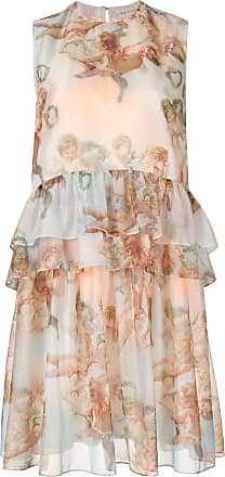 Karen Walker Mariana angel print dress - Multicolour