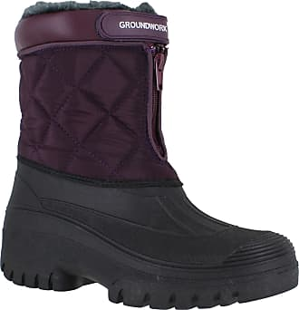 Groundwork LS83 Womens Muckers Mukker Stable Winter Waterproof Lined Snow Boots UK7 Purple