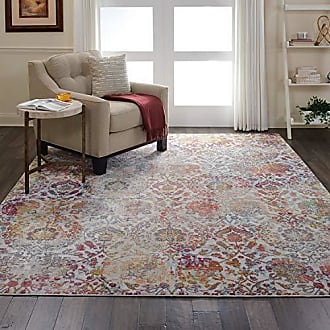 Nourison Global Vintage White and Orange French Country Area Rug 810 x 1110