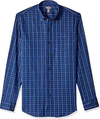 Van Heusen Mens Flex Non Iron Stretch Long Sleeve Shirt Button, Blue Underground Stripe, Medium