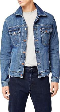 Wrangler Mens Regular Denim Jacket, Blue (Midstone 091), XX-Large