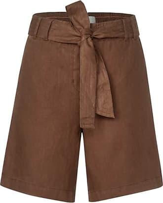 Cecil Leinen-Shorts - caramel brown