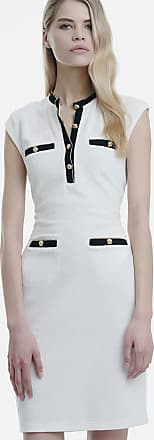Sugarfree White terry dress in gold buttons