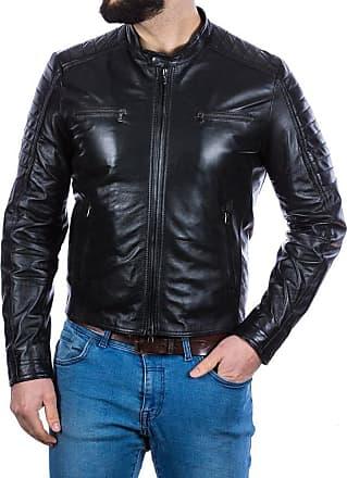 Leather Trend Italy U05 - Giacca Uomo in Vera Pelle colore Nero Morbida