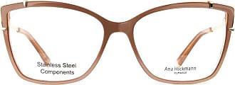 Ana Hickmann Óculos de Grau Ana Hickmann Ah6381 H03/55 Marrom/dourado