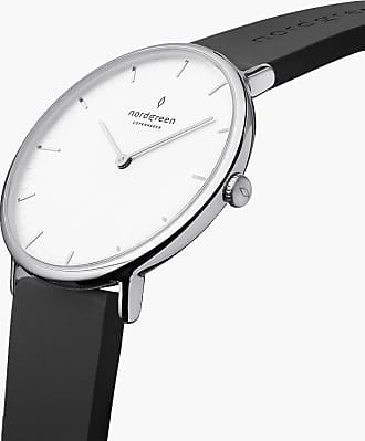 Nordgreen Native | White Dial - Black Rubber - 40mm / Rose Gold