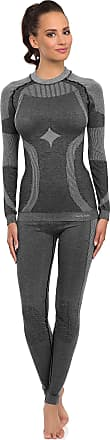 Merry Style Womens Functional Thermo Active Underwear Long Johns Plus Long Sleeve Shirt 06 110w 120w (Grey, M/L)