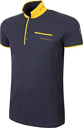 Crosshatch Mens Polo Shirt Crosshatch Collared Cotton T Shirt Short Sleeve Casual Top - New (S, Night Sky)
