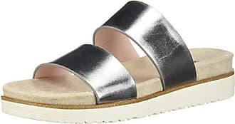 Kensie Womens Dominic Slide Sandal, Silver, 8.5 M US