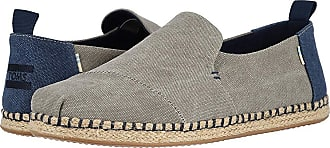 9600945e14f Toms Deconstructed Alpargata Rope (Drizzle Grey Washed Canvas) Mens Slip on  Shoes