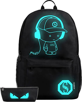 YYW Anime Luminous Backpack Noctilucent Bags Daypack USB Chargeing Port Laptop Bag for Men Women with Password Lock (Boy)