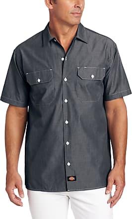 Dickies Mens Short Sleeve Chambray Shirt - Blue - XL