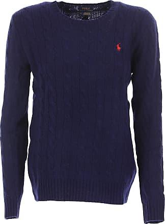 Ralph Lauren Pullover für Damen, Pulli Günstig im Sale, Marineblau, Wolle,  ... 006816aa68