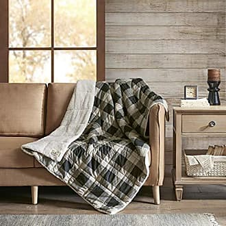 Woolrich Linden Oversized Sofstpun to Sherpa Berber Down Alternative Ultra Soft Warm Throw Blanket for Couch, Bed, 50X70 Inches, Tan