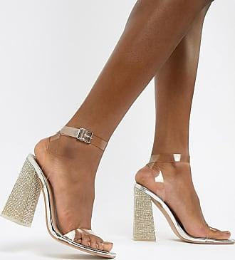 7edcb625590 Public Desire Ayda embellished heel clear detail sandals