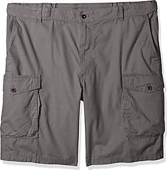 213105ff69 Izod Mens Big and Tall Saltwater Ripstop Cargo Short, Smoked Pearl, 46