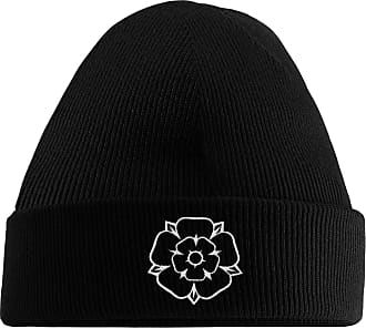 HippoWarehouse Yorkshire Rose Embroidered Beanie Hat