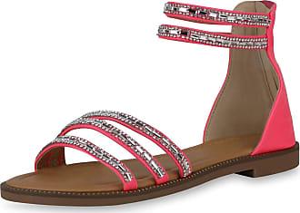 Scarpe Vita Women Strap Sandals Rhinestone Rivets 194295 Pink UK 5.5 EU 39