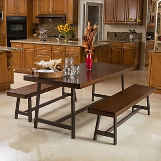 BEST SELLING HOME Bassie 3 Piece Rectangular Dining Table Set - 296302