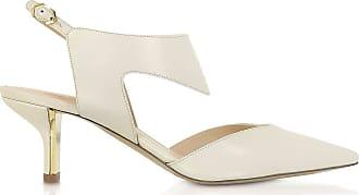 Nicholas Kirkwood Fashion Woman 906A14NLS136 Beige Leather Heels | Fall Winter 19