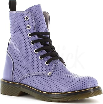 Generico Made in Italy Amphibian Leather Style Dr Martens - Purple Purple Size: 8 UK