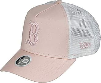 0b9be3b3353092 New Era Boston Red Sox A Frame Adjustable Women Trucker Cap MLB Essential  Peach/White