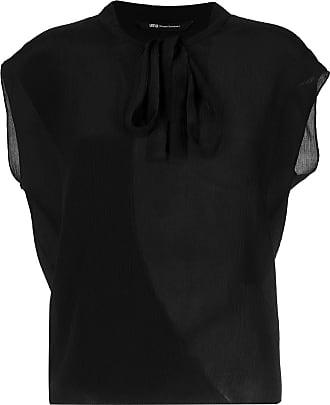 Uma Blusa Melody de seda - Preto