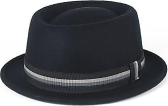 Hat To Socks Stylish Navy 100% Wool Pork Pie Hat Waterproof & Crushable, Handmade in Italy (Navy, 56 cm)
