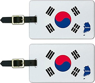 Graphics & More Graphics & More South Korea Home Country Luggage Suitcase Id Tags-Flag, White